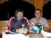 Tihanyi István (lagász)amatőrcsillagász Hegyhátsálon. 2004.