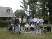 ORACSBITU 2003. Indulás Hegyhátsálról a napfogyatkozás szobortól.2003.jun.6.